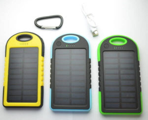 POWER BANK SOLARE IMPERMEABILE 10000 mAh da ZAINO
