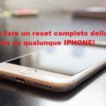 Come fare un reset completo della batteria su iPhone