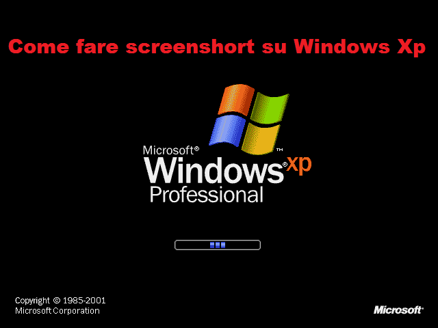 Come fare screenshort su Windows XP